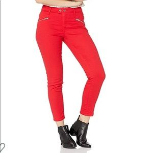 NWT LEVIS 721 Moto Skinny Ankle Jeans in Red